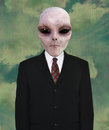 Space Alien, Business Suit, Tie Royalty Free Stock Photo