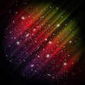 Space aurora background vector abstract colorful with imitation and stars Royalty Free Stock Photography