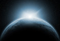 Space background with fictional planets Royalty Free Stock Photo