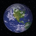 Space background realistic planet mother earth and stars thanks to nasa for the image www visibleearth nasa gov eps contains Stock Photo