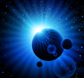 Space blue background Stock Photos
