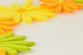 Space bordered with flowers white beautiful colourful Stock Image
