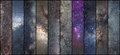 Space collage. Astronomy collage. Astrophotography collage. universe. Royalty Free Stock Photo