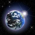 Space Earth Sun Rise