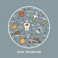 Space exploration concept vector illustration Stock Photography