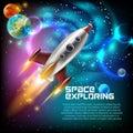 Space Exploration Illustration Royalty Free Stock Photo