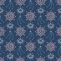 Space Galaxy childish seamless pattern with stars, cosmic elements Royalty Free Stock Photo