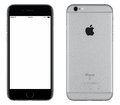Space Gray Apple iPhone 6s mockup front view and back side Royalty Free Stock Photo