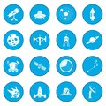 Space icon blue Royalty Free Stock Photo