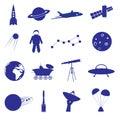 Space icon set eps10 Royalty Free Stock Photo