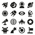 Space icons set this is file of eps format Stock Image