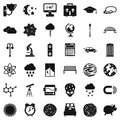 Space icons set, simple style Royalty Free Stock Photo