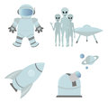 Space icons for you design Stock Photography