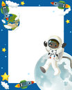 The space journey happy and funny mood illustration for the children colorful Stock Photo