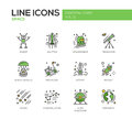 The Space - line design icons set Royalty Free Stock Photo