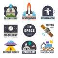 Space logo set Royalty Free Stock Photo