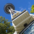 The space needle seattle washington usa june in on june in was built as a symbol of world s fair is located Royalty Free Stock Image