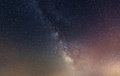 Space nighty sky with many stars during summer night Stock Photography