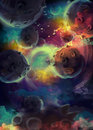 stock image of  Space planets. lights background
