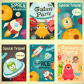 Space Posters Set Royalty Free Stock Photo