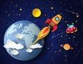 Espacio cohete iniciar
