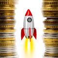 Space rocket on white Royalty Free Stock Photo