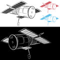 Space Satellite Drawing Stock Photography