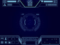 Space shooter game ui vector elements for Royalty Free Stock Photos