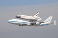 Space shuttle Endeavour, Los Angeles 2012 Royalty Free Stock Photo