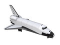 Space shuttle isolated on white background d render Royalty Free Stock Photography