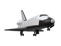 Space shuttle isolated on white background d render Stock Photo