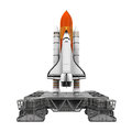 Space Shuttle and Mobile Launcher Platform Royalty Free Stock Photo