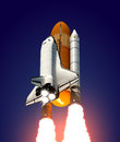 Space shuttle realistic d scene Stock Images