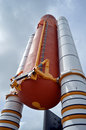 Space Shuttle Solid Rocket Boosters and External Tank on display at Kennedy Space Center Royalty Free Stock Photo