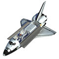 Space shuttle on white background realistic d model Royalty Free Stock Images