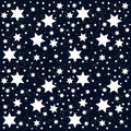 Space. Starry Sky with the Moon. Vector Royalty Free Stock Photo