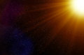 Space Stars and Light Rays Background Royalty Free Stock Photo