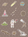 Space stickers Royalty Free Stock Photos