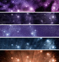 Space theme banners set Royalty Free Stock Images