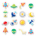 Space and UFO icons set