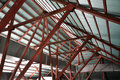 Space under roof trusses Stock Photos