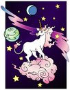 Space Unicorn Royalty Free Stock Image