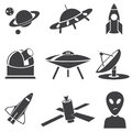 Space vector set for you design Royalty Free Stock Photo