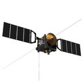Spacecraft mars express d scene Royalty Free Stock Photo