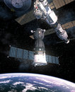 Spacecraft Is Preparing To Dock With International Space Station