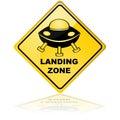 Spaceship landing zone Royalty Free Stock Photo