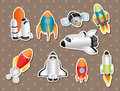 Spaceship stickers Royalty Free Stock Photos