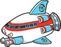 Spaceship Vector Illustration Royalty Free Stock Images