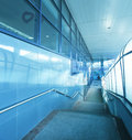 Spacious airport hall structure Royalty Free Stock Image