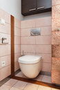 Spacious apartment wc contemporary bathroom toilet Stock Images